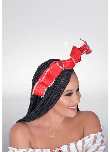 Derby Looped Rhinestone Braid Fascinator