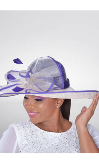 2 Tone Hat with Net On Crown