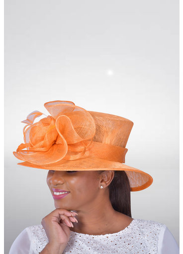 Loop Feathered Medium Brim Sinamay Hat