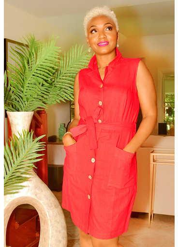 GLAMOUR NASH-ShirtDress with Pockets