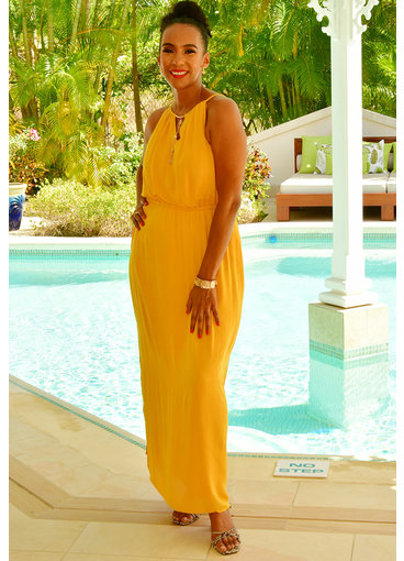 Nina Leonard KELLY- Strappy Maxi Dress