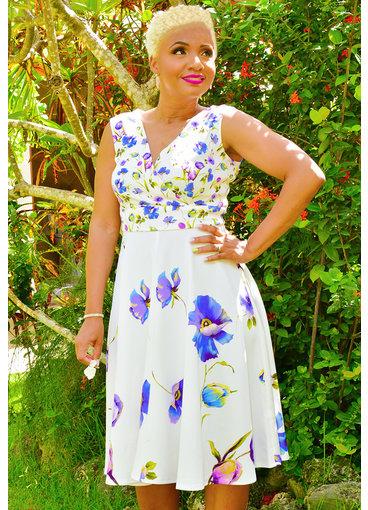 UMALI- Printed Fit & Flare Dress