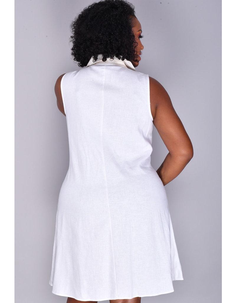 MSK NICOLE- Sleeveless Shirt Dress