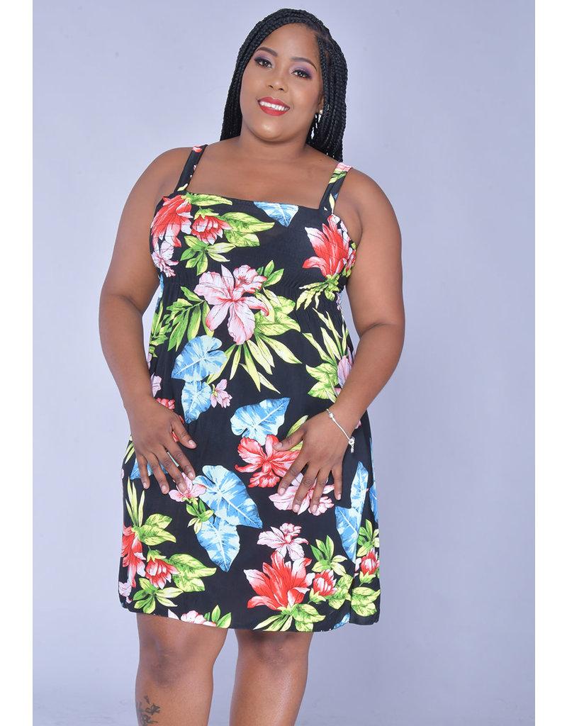 ACE Fashions INDICA- Plus Size Strappy Sun Dress