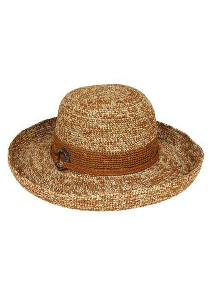 2 Tone Crochet Raffia Upbrim Hat