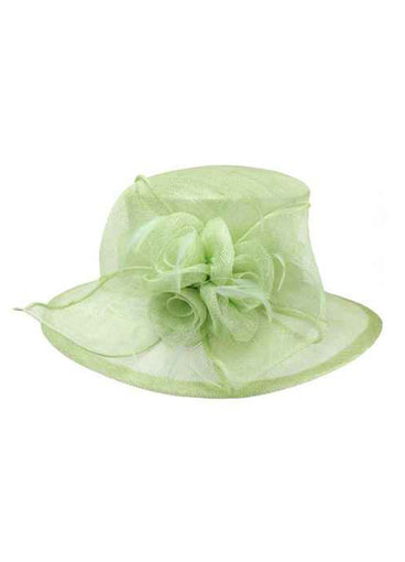 3 Rose Medium Sinamay Derby Hat