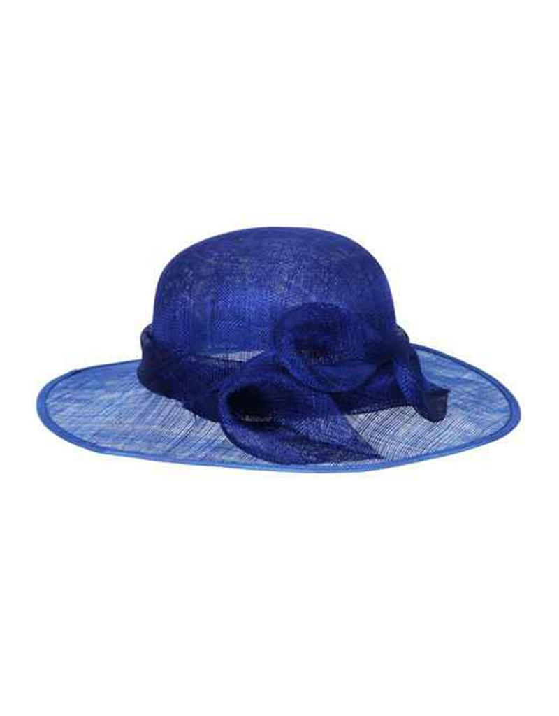 Medium 2 Tone Sinamay Hat with 3 Flowers