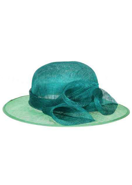 Medium 2 Tone Sinamay Hat with 3 Flowers