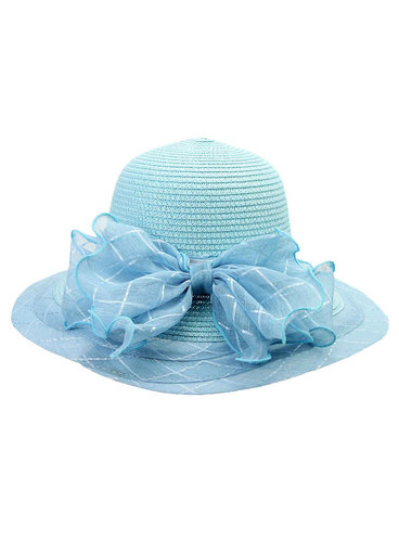 Braid Hat with Bow on Back