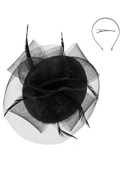 Medium Woven Mesh Ruffle Fascinator