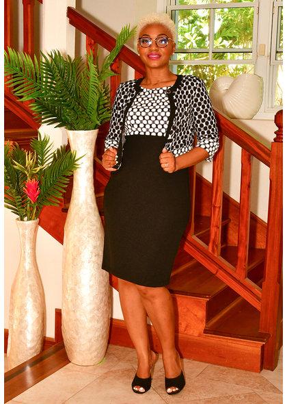 EVIE- Circle Print Jacket Dress