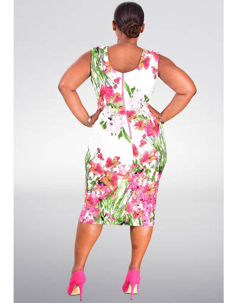 UNICA- Floral Print Sheath Dress