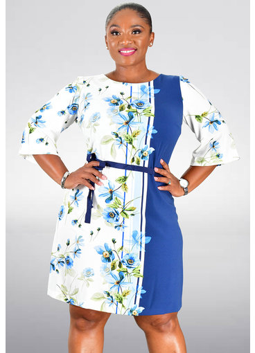 RIAM- Printed Short Sleeve Dress