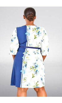 RIAM- Printed Short Sleeve Dress