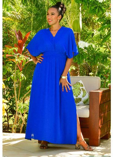 Nina Leonard KIANA- Kimono Sleeve Maxi Dress