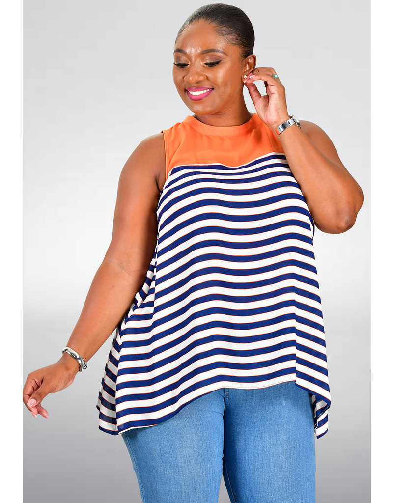 Jessica Rose VALMA- Solid Top Horizontal Stripes