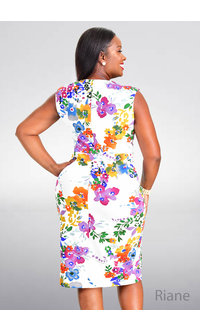 RIANE- Printed Sleeveless Dress