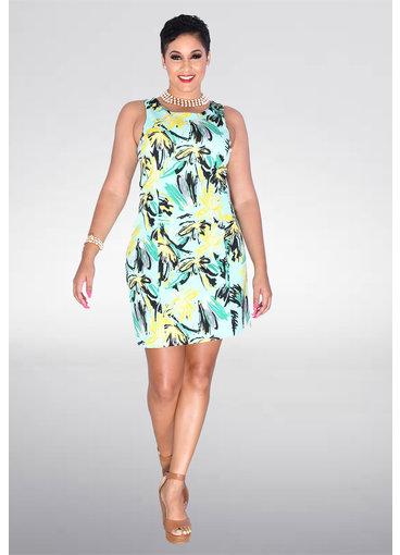 Pappagallo UBELLA- Abstract Floral Print Dress