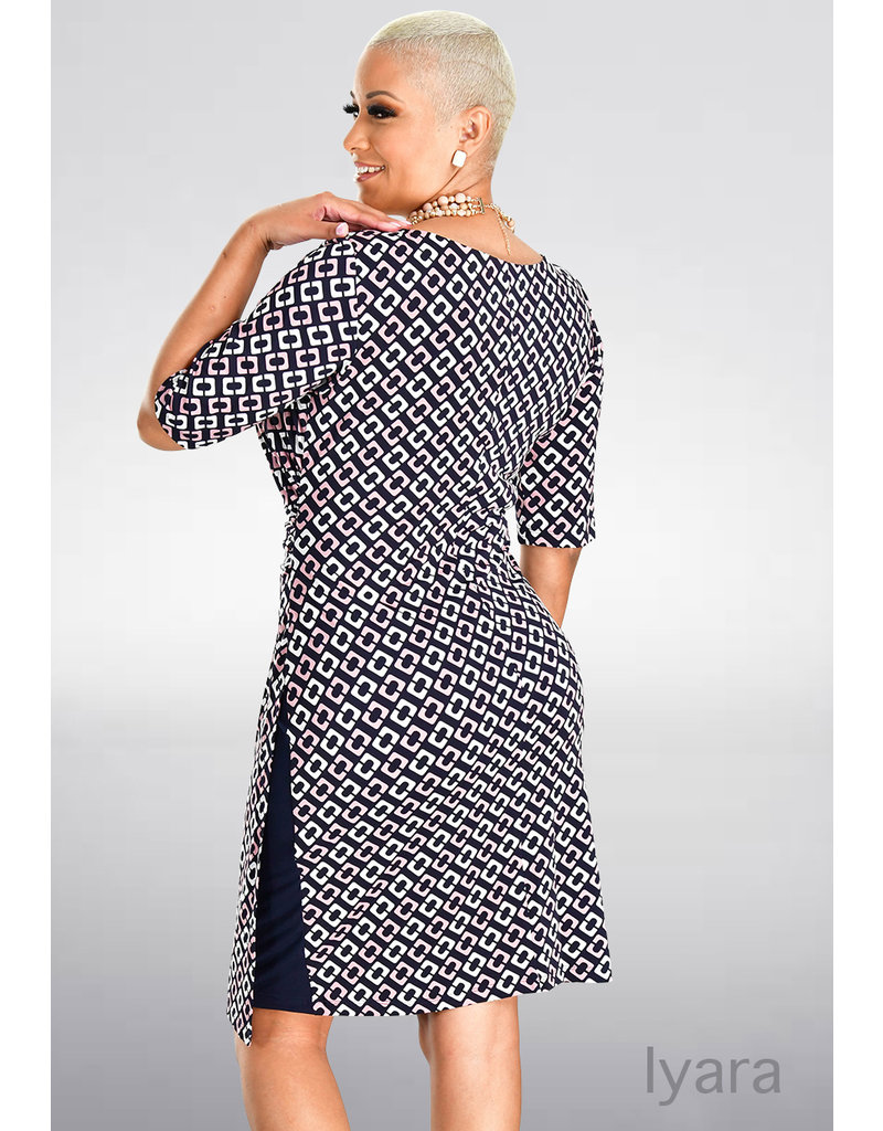 IYARA- Printed Three Quarter Sleeve Dress