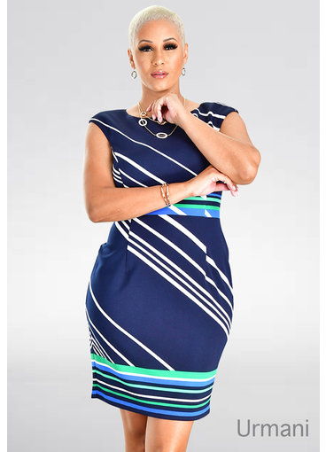 URMANI- Mix Print Sheath Dress