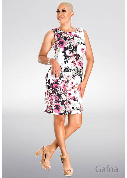 GAFNA- Floral Print Sheath Dress