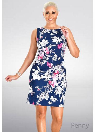 PENNY- Floral Print Sheath Dress