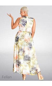 FELLAN- Printed Maxi Dress
