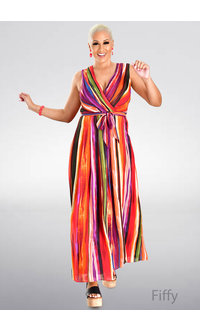 FIFFY- Printed Maxi Length Dress