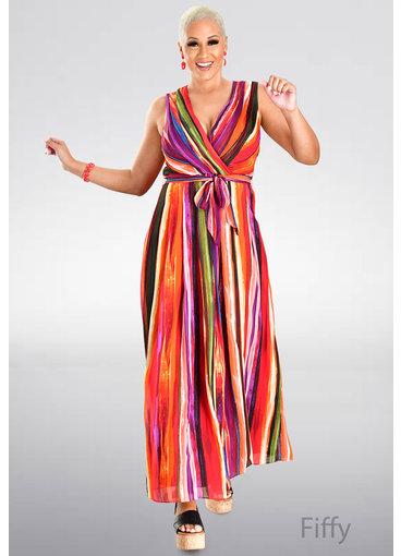 FIFFY- Printed Maxi Length Dress