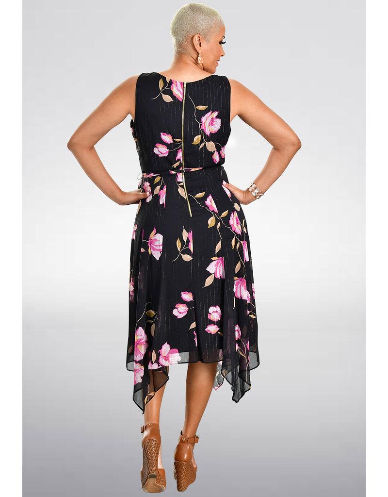 FAUN-Printed Handkerchief Bottom Dress