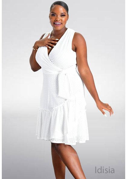 Signature IDISIA- Faux Wrap Sleeveless Dress