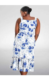 NAKIRA- Printed Dress with Tie at the Waist