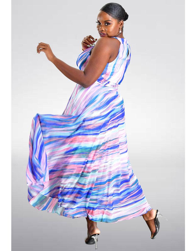 Sandra Darren FARRY- Printed Halter Dress