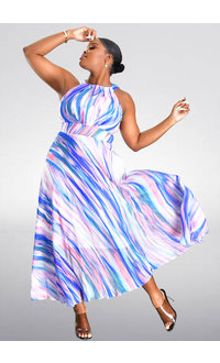 Sandra Darren FARRY- Printed Halter Dress