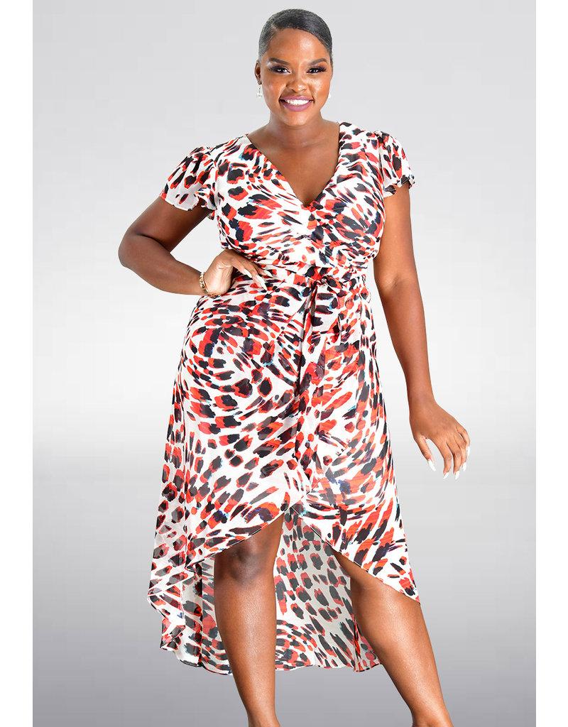 Julia Jordan FERGIE- Printed Cap Sleeve Dress