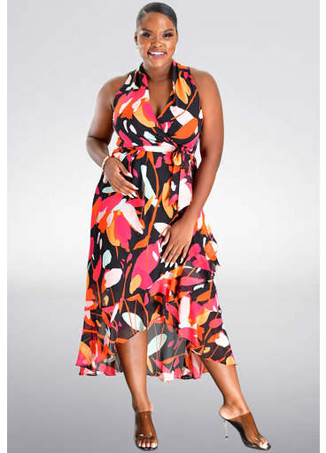 Julia Jordan FILLAN- Printed Halter Dress