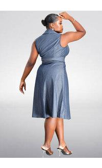 KING- Armhole Jean Wrap Dress