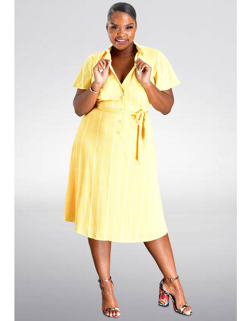 RESANI- Frill Sleeves Shirt Dress