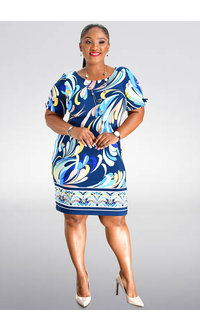 Sandra Darren IGENA- Printed Shift Dress