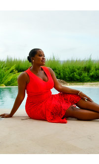 LEANA- Lace Sleeveless Dress