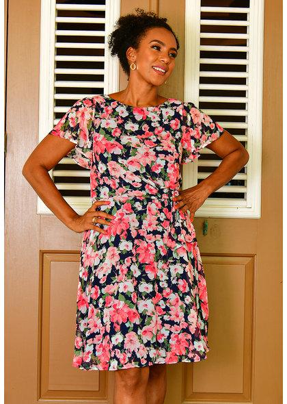 FRENA- Floral Blouson Dress