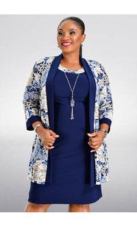 IWONA- Jacket and Dress with Necklace Piece