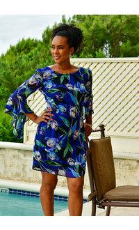 FARUZ- Printed Three Quarter Sleeve Dress