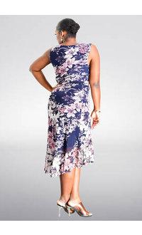 MAKIE- Floral Printed Ruffle Dress