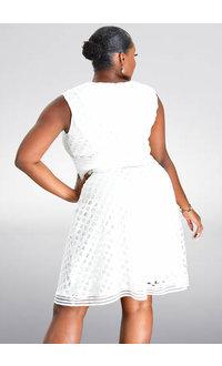 Sandra Darren CENA- Sleeveless Eyelet Dress