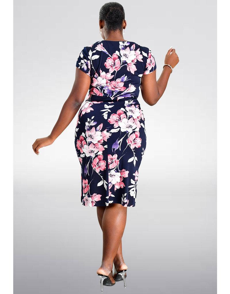 YOLEN- V-Neck Floral Printed Dress