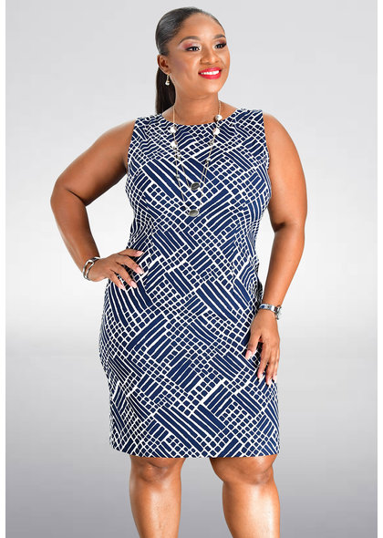 GAFNA- Printed Sheath Dress