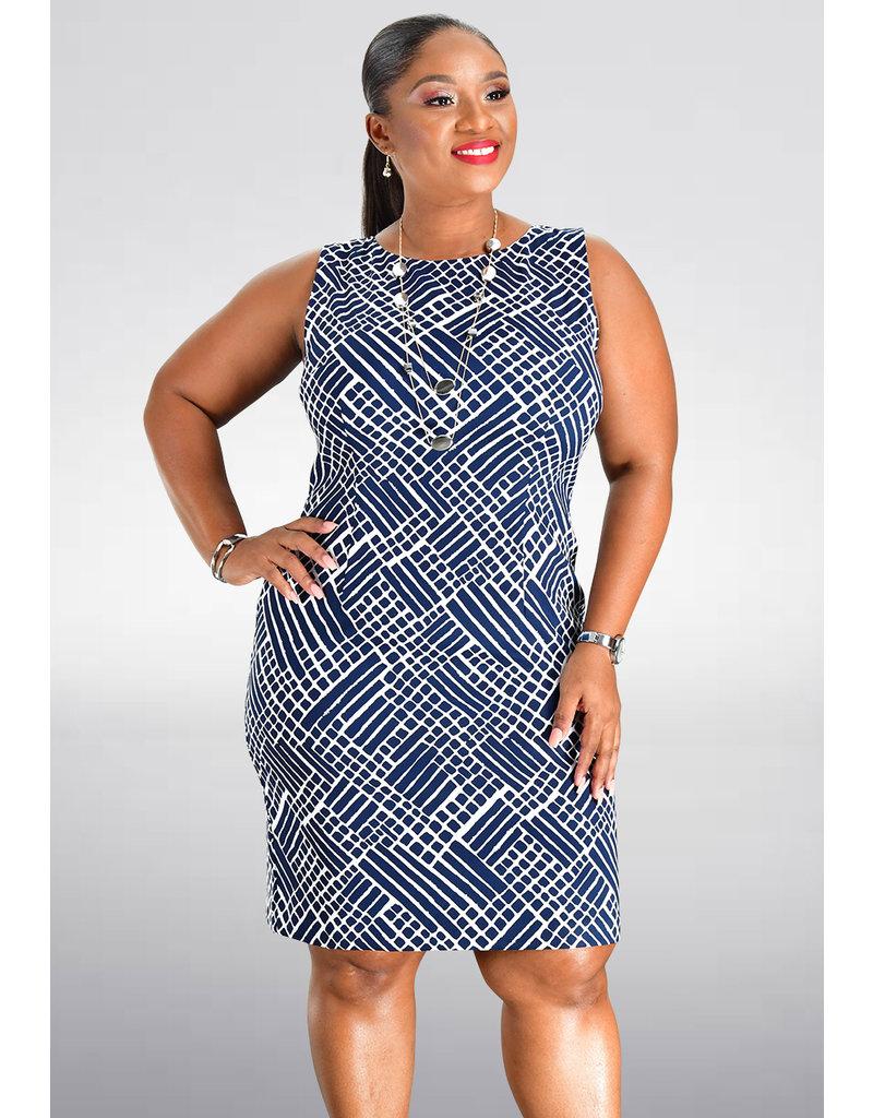 GAFNA- Printed Sheath Dress