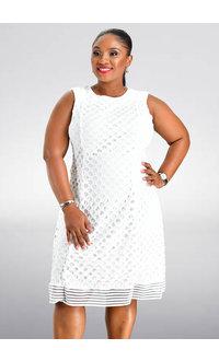Sandra Darren CHERSE- Textured Fit and Flare Dress