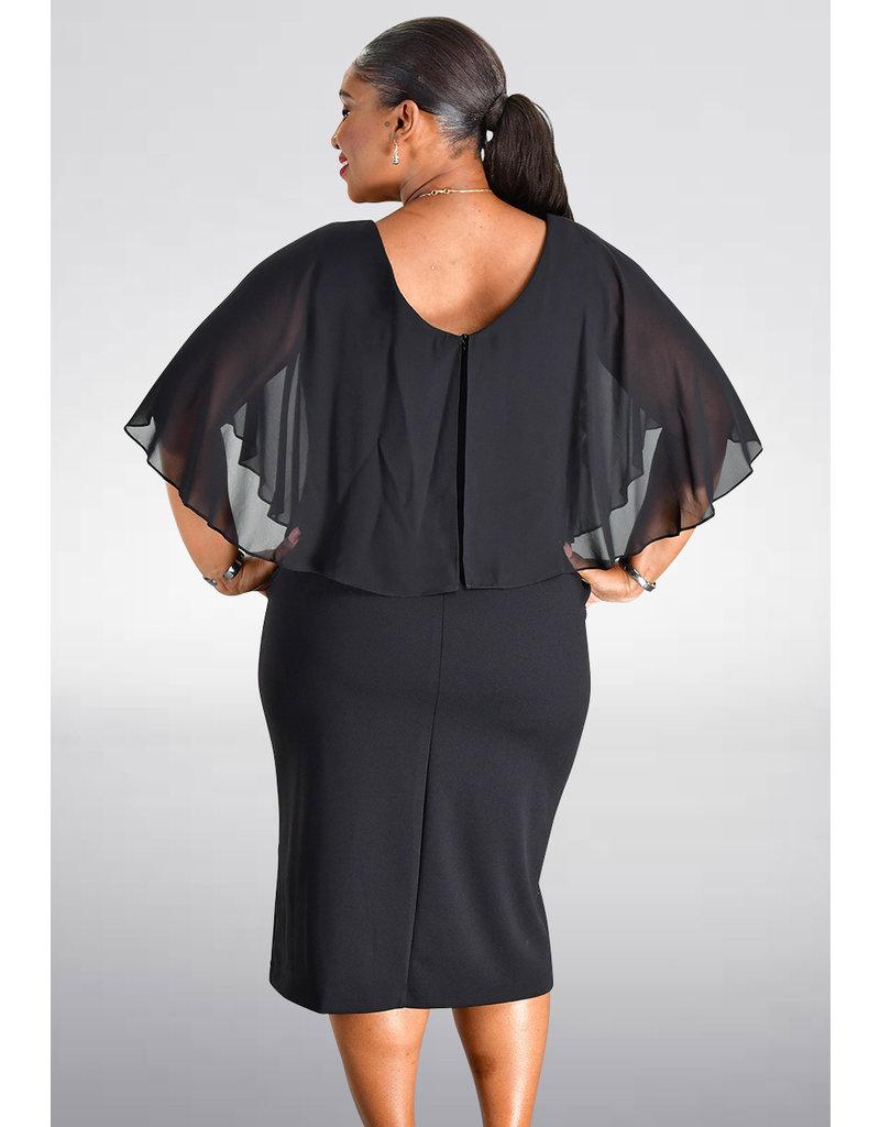ROLANDA-  Chiffon Caplet Dress
